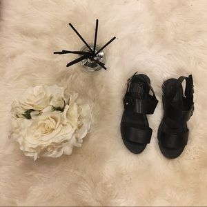 Topshop Black Sandals.